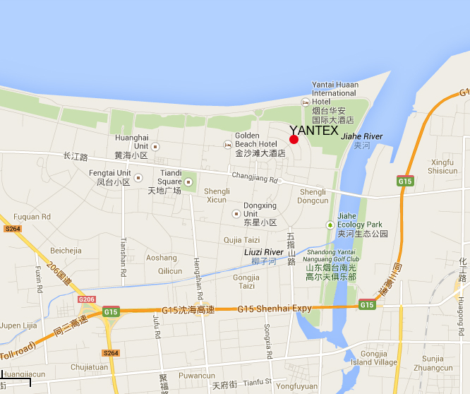 Electronic MapYANTEX Yantai Precision Textile Accessories Co Ltd - Yantai map